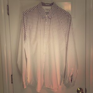 Men's Guess Hex Pattern Button Down Collared Shirt
